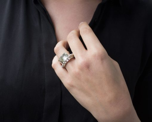 Gehamerde ring