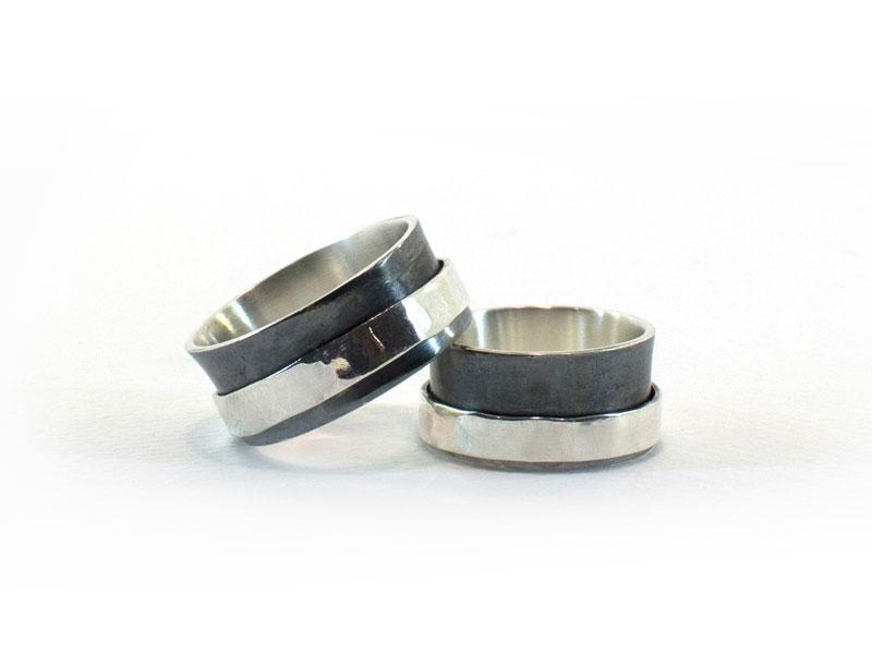Zilveren Ring Met Band