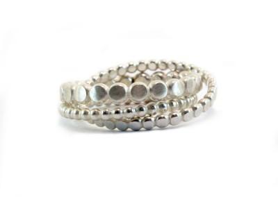 3 ringen vormen een ring. Zilver 925
