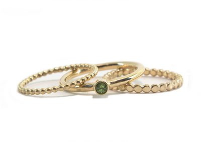 ringen goud 14k met peridoot